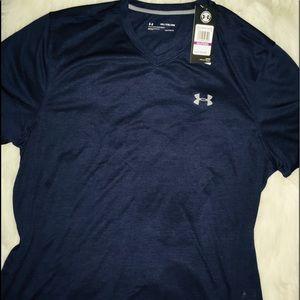 Under Armour Nite Blue men's V-neck SS shirt XXL